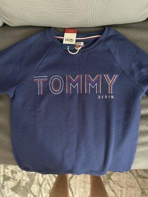 Tommy Hilfiger Pull ras du cou bleu