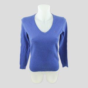 Tommy Hilfiger Pullover blau Gr. XS Pima Cotton Blend