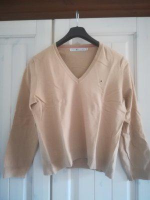 Tommy Hilfiger V-Neck Sweater camel cotton