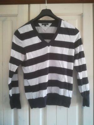 Tommy Hilfiger V-Neck Sweater black-white cotton