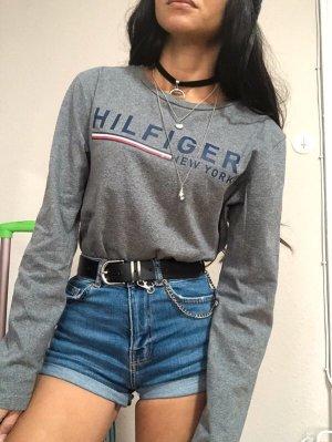 Tommy Hilfiger Pullover Langarmshirt Sweatshirt grauer Pulli Gr.164/fällt S aus