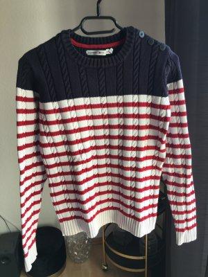 Tommy Hilfiger Pullover mit Zopfmuster gestreift