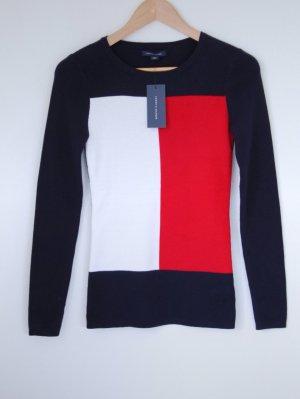 Tommy Hilfiger Pullover navy rot weiß