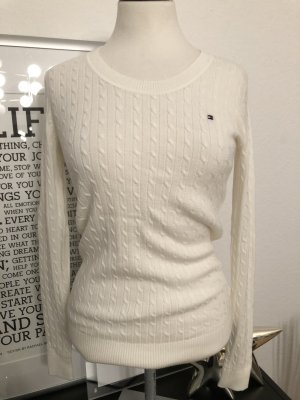 Tommy Hilfiger Pull tricoté blanc