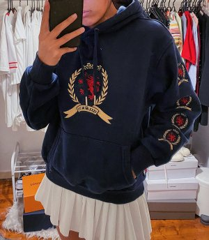 Tommy Hilfiger Pullover Pulli Hoodie Sweater Logo 90s