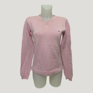 Tommy Hilfiger Cienki sweter z dzianiny jasny różowy Bawełna