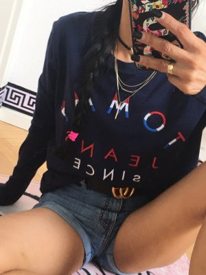 Tommy Hilfiger  Pullover Shirt Pulli Sweater Sweatshirt Logo embroidered Gr:XS