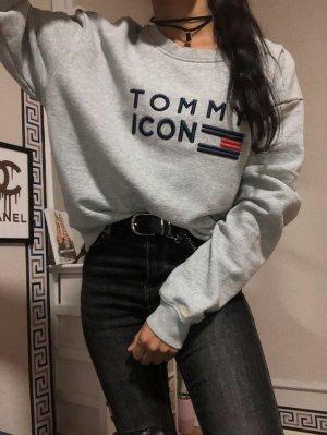 Tommy Hilfiger Pullover Sweatshirt Icons grauer Pulli Gr.M