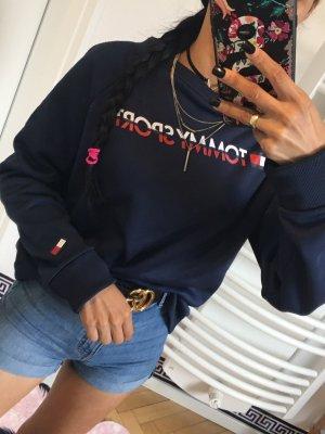 Tommy Sport Długi sweter ciemnoniebieski