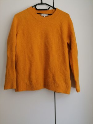 Tommy Hilfiger Pullover Wolle gelb senf senffarben S 36