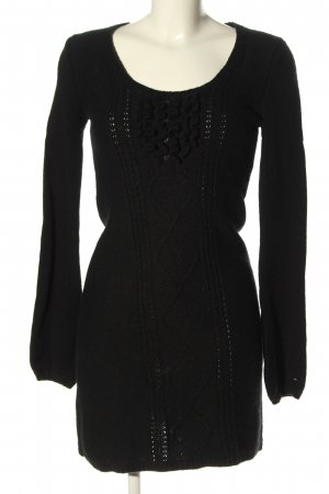 Tommy Hilfiger Sweater Dress black cable stitch casual look