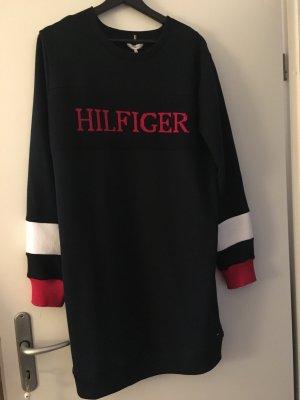 Tommy Hilfiger Robe pull bleu foncé-rouge foncé