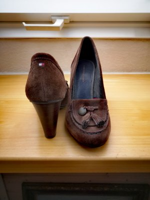 Tommy Hilfiger Loafers donkerbruin