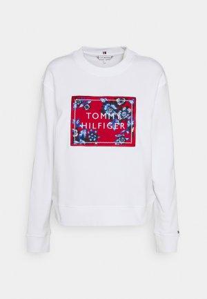 Tommy Hilfiger Relaxed Floral Sweatshirt in Weiß mit Logo Gr.L, Neu mit Etikett!