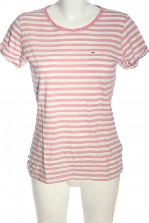 Tommy Hilfiger Stripe Shirt pink-natural white embroidered lettering casual look