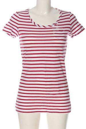 Tommy Hilfiger T-shirt rayé blanc-rouge motif rayé style décontracté