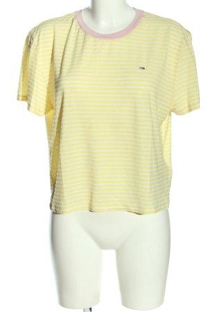 Tommy Hilfiger Ringelshirt blassgelb-weiß Streifenmuster Casual-Look