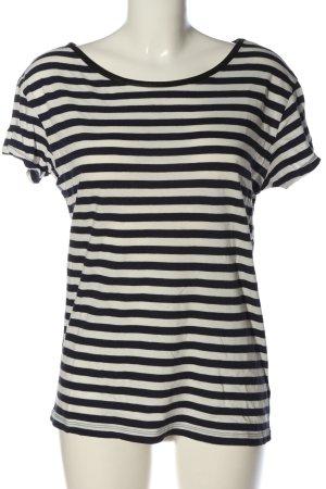 Tommy Hilfiger T-shirt rayé noir-blanc motif rayé style décontracté