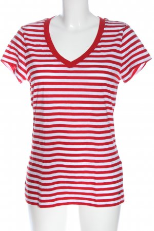 Tommy Hilfiger T-shirt rayé rouge-blanc motif rayé style décontracté