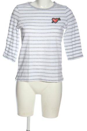 Tommy Hilfiger T-shirt rayé gris clair-blanc motif rayé style décontracté