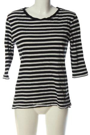 Tommy Hilfiger T-shirt rayé noir-blanc imprimé allover style décontracté