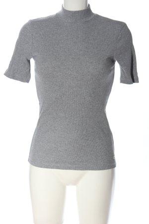 Tommy Hilfiger Prążkowana koszulka jasnoszary W stylu casual