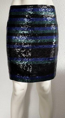 Tommy Hilfiger Rock Gr . 36 Pailletten blau/grün/schwarz Logo