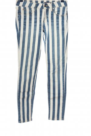 Tommy Hilfiger Röhrenjeans blau-weiß Streifenmuster Casual-Look