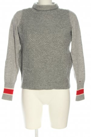 Tommy Hilfiger Turtleneck Sweater light grey allover print casual look