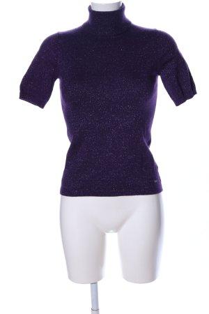 Tommy Hilfiger Camisa de cuello de tortuga lila-color plata estilo «business»