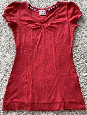 Tommy Hilfiger rotes t-Shirt in rot mit Ärmelchen,S