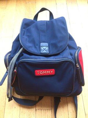 Tommy Hilfiger Sac à dos collège bleu-rouge brique nylon