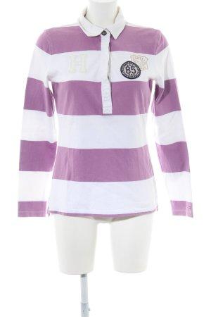 Tommy Hilfiger Polo de rugby blanc-violet imprimé avec thème