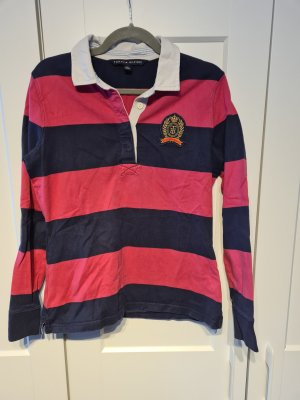 Tommy Hilfiger Camiseta de rugby rosa-azul oscuro