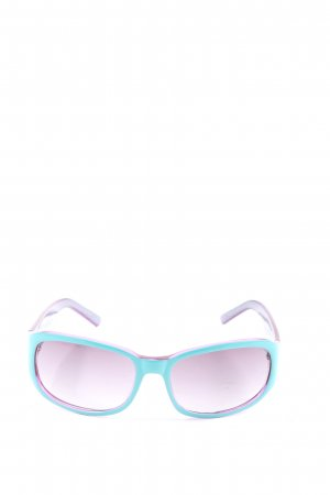 Tommy Hilfiger ovale Sonnenbrille türkis-lila Casual-Look