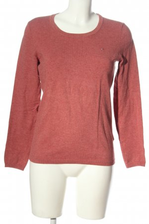 Tommy Hilfiger Rundhalspullover rot meliert Casual-Look