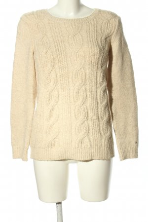 Tommy Hilfiger Crewneck Sweater cream cable stitch casual look