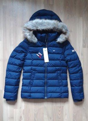 Tommy Hilfiger S 36 Daunenjacke Jacke Winterjacke Blau dunkelblau neu