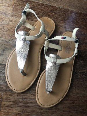 Tommy Hilfiger Denim Flip flop sandalen lichtbruin-roségoud