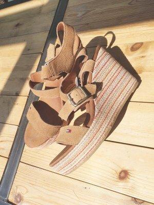 Tommy Hilfiger Wedge Sandals cognac-coloured