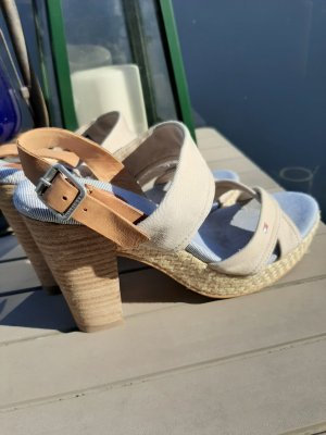 Tommy Hilfiger Strapped High-Heeled Sandals light brown-oatmeal