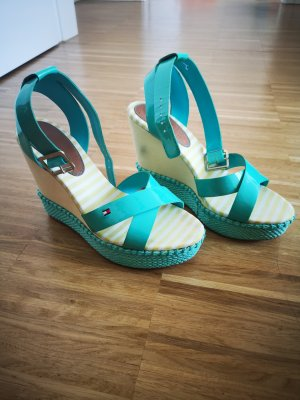Tommy Hilfiger Wedge Sandals turquoise