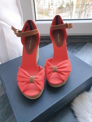 Tommy Hilfiger Zapatos de cuña naranja-salmón