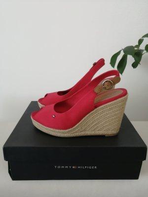 Tommy Hilfiger Platform High-Heeled Sandal red
