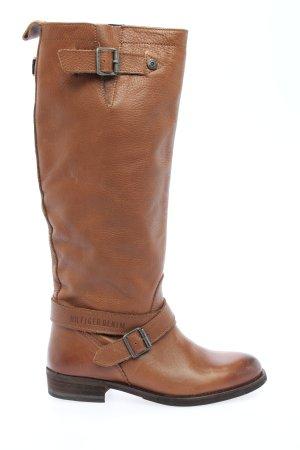 Tommy Hilfiger Kozaki z cholewką brązowy W stylu casual