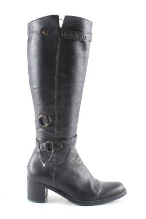 Tommy Hilfiger Jackboots black leather