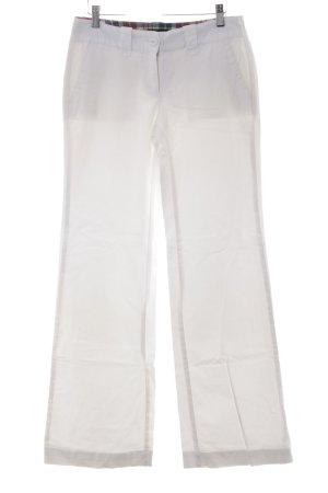 Tommy Hilfiger Pantalon pattes d'éléphant blanc cassé style décontracté