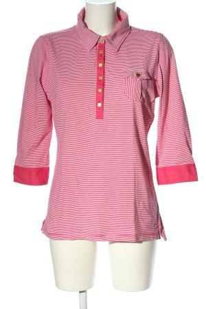 Tommy Hilfiger Schlupf-Bluse pink-weiß Streifenmuster Casual-Look