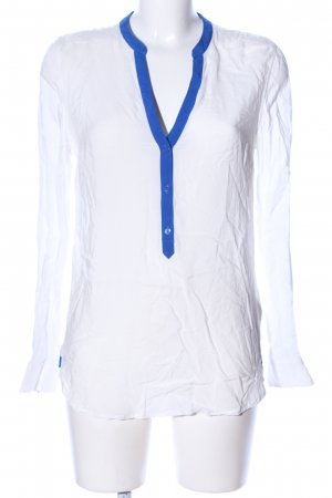 Tommy Hilfiger Schlupf-Bluse weiß-blau Casual-Look