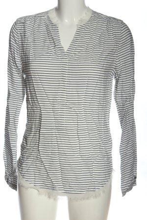 Tommy Hilfiger Schlupf-Bluse weiß-schwarz Streifenmuster Casual-Look